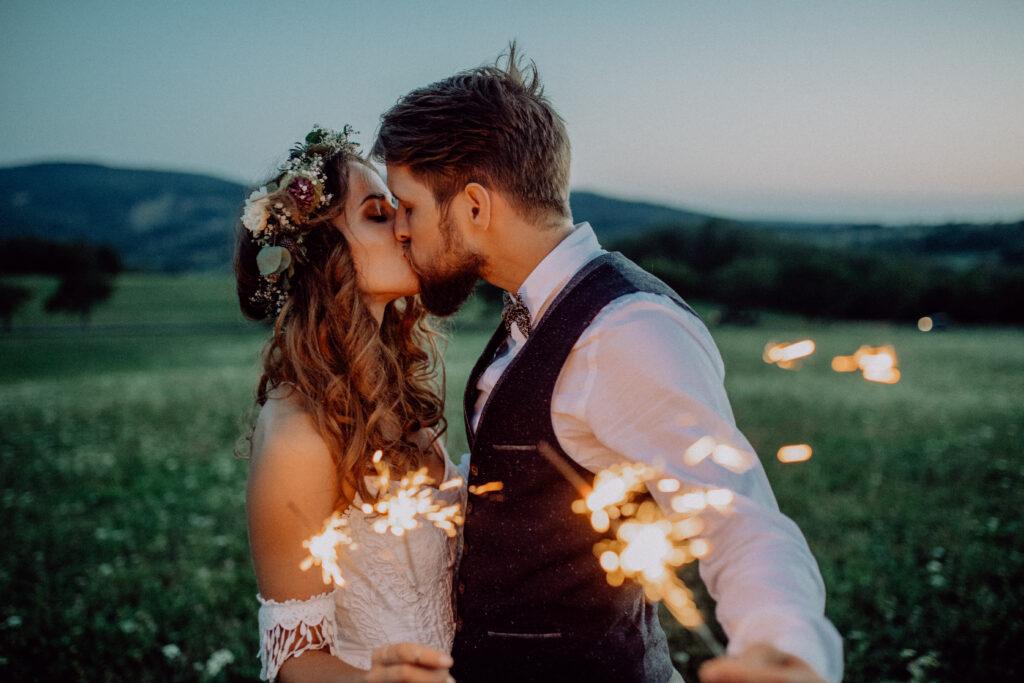 Svatební video - prskavky